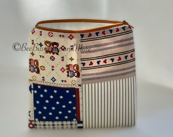 """7""""x6.75"""" make up bag, toiletry bag, pens, pencil case, sewing kit bag, notions pouch, fabric zipper pouch, travel bag, needlework bag"""