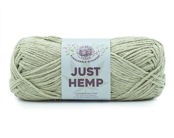 Just Hemp REED Lion Brand Yarn Wt 5 bulky 100% Hemp all natural fiber art sustainable supply machine wash dry knit crochet macrame (5943)