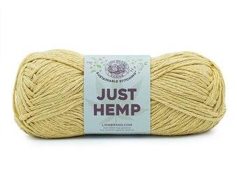Just Hemp HAY Lion Brand Yarn Wt 5 bulky 100% Hemp all natural fiber art sustainable supply machine wash dry knit crochet macrame (5950)