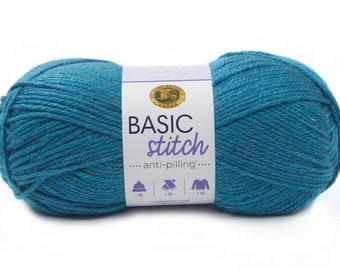 TURQUOISE HEATHER Basic Stitch Anti-Pilling Yarn Wt 4 worsted acrylic machine wash and dry knit crochet fiber art DIY project supply (5893)