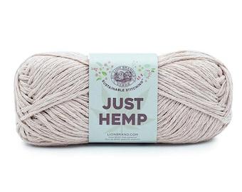 Just Hemp PRIMROSE Lion Brand Yarn Wt 5 bulky 100% Hemp all natural fiber art sustainable supply machine wash dry knit crochet macrame (5946