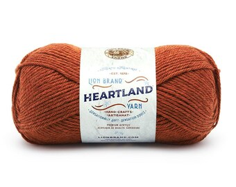 YOSEMITE rust orange Lion Brand Heartland National Park Yarn Wt 4 worsted machine wash dry knit crochet fiber art project supply (5884)
