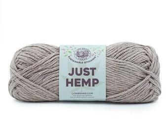 Just Hemp COCOA Lion Brand Yarn Wt 5 bulky 100% Hemp all natural fiber art sustainable supply machine wash dry knit crochet macrame (5942)