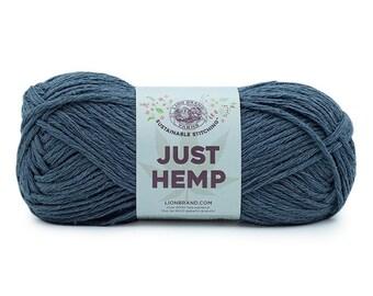 Just Hemp COAL Lion Brand Yarn Wt 5 bulky 100% Hemp all natural fiber art sustainable supply machine wash dry knit crochet macrame (5949)