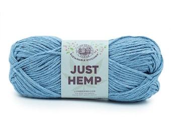 Just Hemp SKY Lion Brand Yarn Wt 5 bulky 100% Hemp all natural fiber art sustainable supply machine wash dry knit crochet macrame (5940)