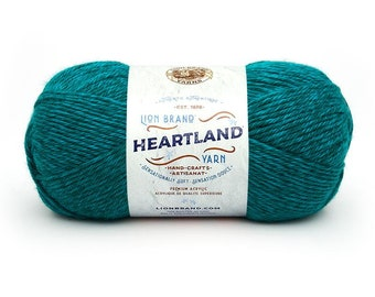 CUYAHOGA VALLEY turquoise Lion Brand Heartland National Park Yarn Wt 4 worsted machine wash dry knit crochet fiber art project supply (5887)
