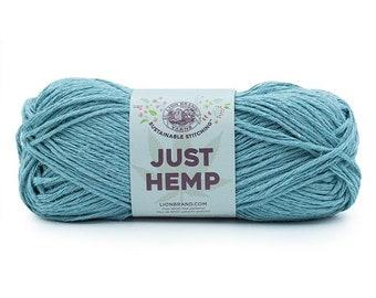 Just Hemp OCEAN Lion Brand Yarn Wt 5 bulky 100% Hemp all natural fiber art sustainable supply machine wash dry knit crochet macrame (5939)