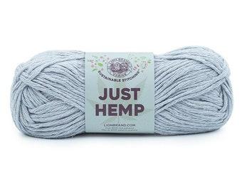 Just Hemp SILVER Lion Brand Yarn Wt 5 bulky 100% Hemp all natural fiber art sustainable supply machine wash dry knit crochet macrame (5948)