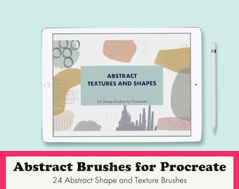 Abstract Texture and Shape Brushes for Procreate: 24 Stamp Brushes to Use on the iPad