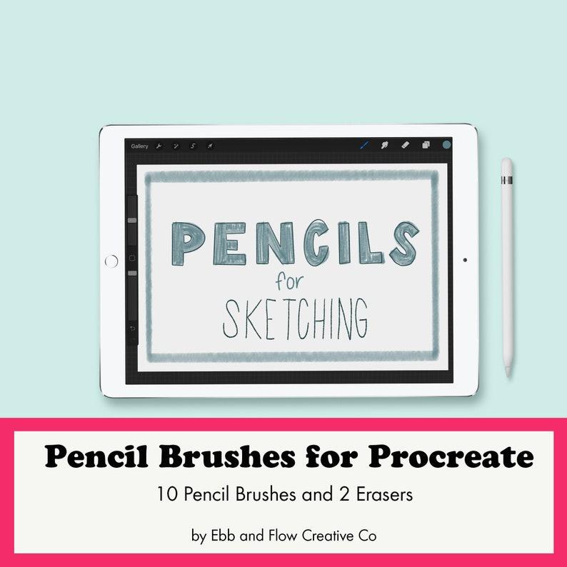 Procreate Brush Set: 10 Pencils for iPad Sketching  Procreate image 1