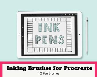Inking Brushes for Procreate, Liner Ink Brushes, Procreate Drawing Brushes