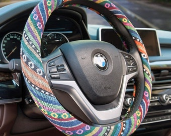 White Cute Steering Wheel Cover for Women with Cat Ear,15inch Universal Fuzzy Steering Wheel Cover with Cat Ear Design,Warm in Winter