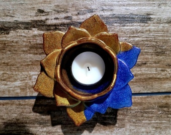 Midnight Blue Candle Holder