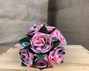 Camo Rose Pink Camoflauge Camo Wedding Fabric Bouquet Flowers Pink Camo Decor Pink Camo Pink Camo Satin Fabric Rose Baby Girl