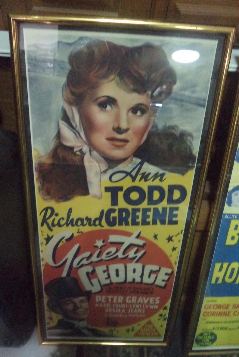 GAIETY GEORGE Australian Hand Litho Daybill Poster 1946