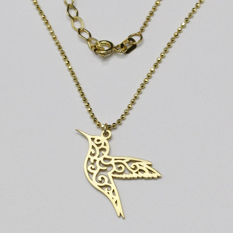 Hummingbird Necklace \u2022 Daily 925 Silver Necklace \u2022 18k Gold-Plated \u2022 Dainty Gift For Her \u2022 Mother/'s Day Gift \u2022  Her \u2022 Christmas Gift