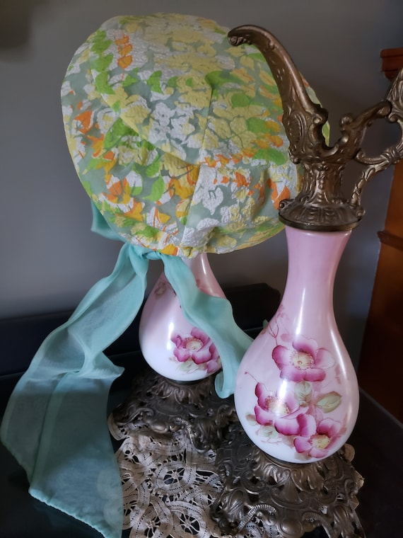 1970s Christian Dior MISS DIOR Floral Hat with ch… - image 5