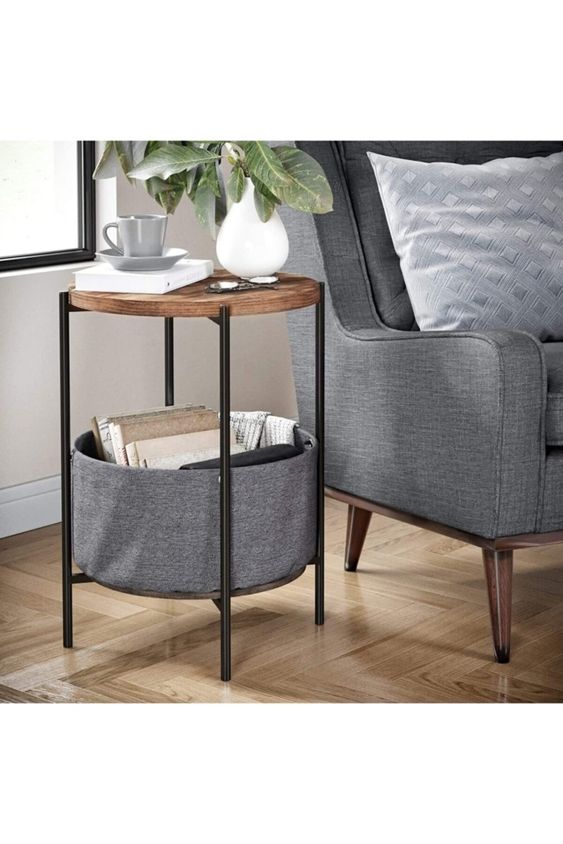 Coffee Table Large Bag Bookshelf Flower Holder Metal Atlantik image 0