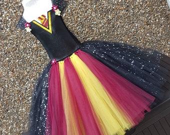 Hulk Superhero Character Inspired Layered Knee Length Tutu Dress CostumeParty DressBirthday DressHalloween Costume