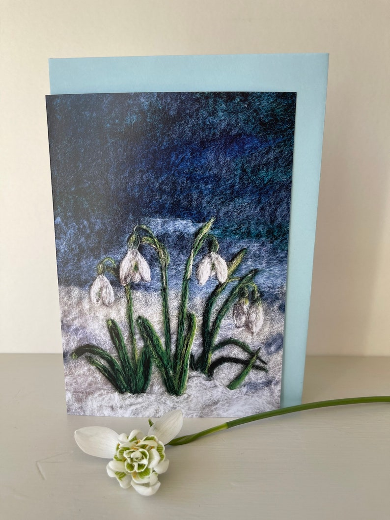 Art Card Cluster of Snowdrops