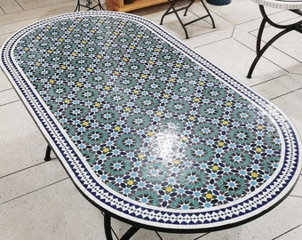 CUSTOMIZABLE Mosaic Table - Crafts Mosaic Table - Mosaic Table Art - Mid Century Mosaic Table - Handmade Huge Table For Outdoor & Indoor