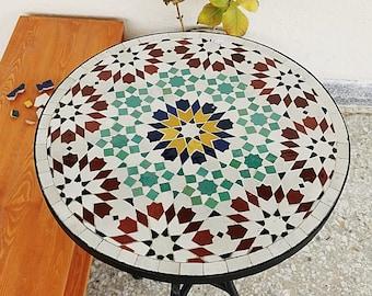 Garden Patio Handmade Outdoor Decor Table - Outdoor Indoor - CUSTOM Mid Century Table- Farmhouse Handmade Colorful Artwork