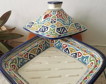 Handmade Authentic Berber TAGINE - Ceramic Cooking and Serving Tagine - CUSTOMIZABLE Dining And Serving Tagine - Ceramic Handmade Cooking