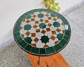 Garden Patio Handmade Outdoor Decor Table - Outdoor Indoor - CUSTOM Mid Century Table- Farmhouse Handmade Colorful Artwork - Interior Design