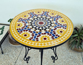 CUSTOMIZABLE Dining Mosaic Table - Crafts Mosaic Table - Mosaic Art - Mid Century Mosaic Table - Handmade Coffee Table For Outdoor & Indoor