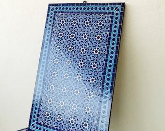 CUSTOMIZABLE Mosaic Wall Art - Handmade mosaic - Handcrafted Tiles - Wall Mounted Art - Mid Century Style - Mosaic Painting - Marble Mosaic