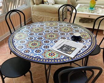 CUSTOMIZABLE Mosaic Table - Crafts Mosaic Table - Mosaic Table Art - Mid Century Mosaic Coffee Table - Dining Table For Outdoor & Indoor