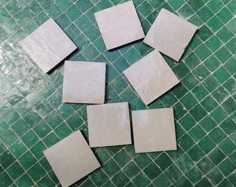 Ecru White Terracotta  4 x 4 Tiles - Handmade  Bathroom Kitchen Tiles For Bathroom Projects