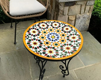 CUSTOMIZABLE Mosaic Table - Crafts Mosaic Table - Mosaic Table Art - Mid Century Mosaic Table - Handmade Coffee Table For Outdoor & Indoor
