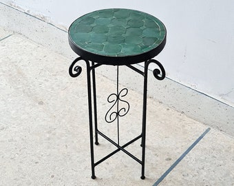 Emerald Green Mosaic Table - Crafts Mosaic Table - Mosaic Table Art - Mid Century Mosaic Table - Handmade Coffee Table For Outdoor & Indoor