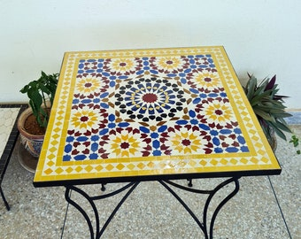 PERSONALIZED Handmade Mosaic Table - Create Your Own Dining / Coffee / Outdoor / Indoor Table - Provide Us With The Colors, Size, And Shape