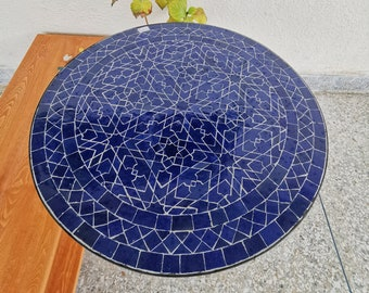 Midnight Blue Outdoor Table - Patio Blue Table - 20 inch / 500mm Coffee Table