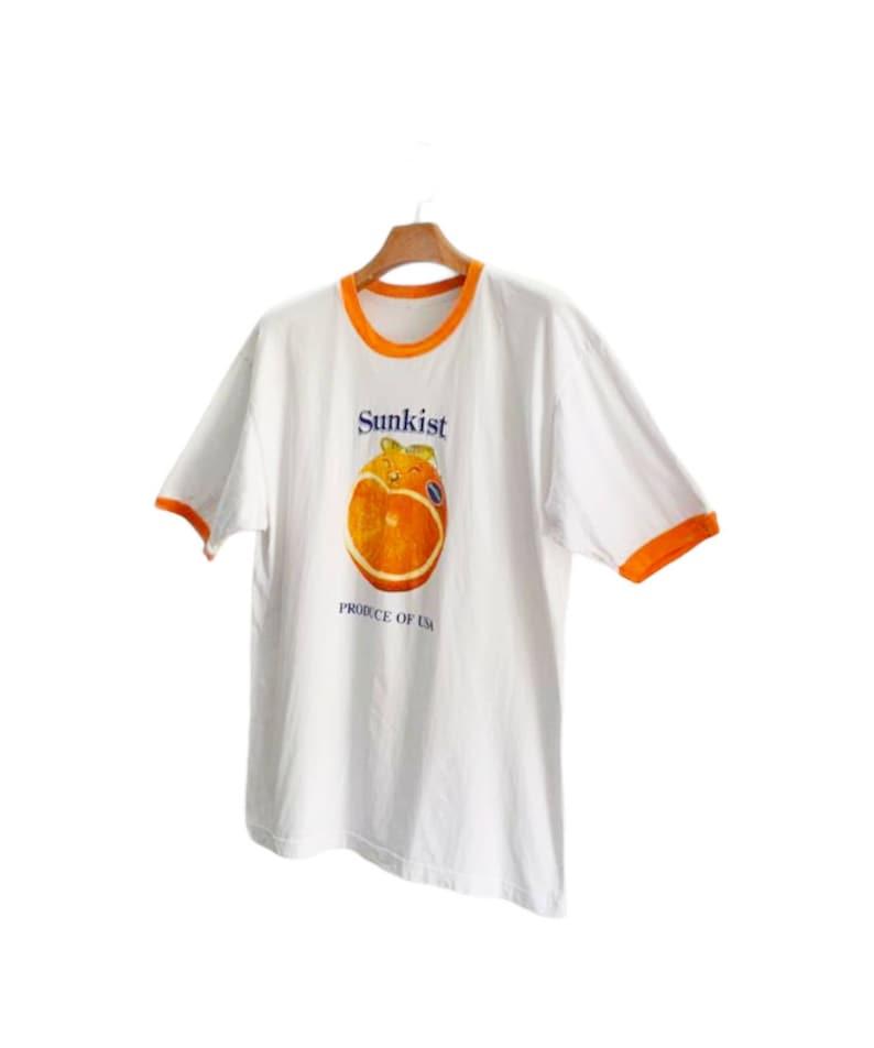 XL size SUNKIST Vintage 90s Promo Ads Ringer T shirt