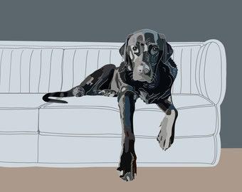 """Customized Pet Portrait 8x10"""""""