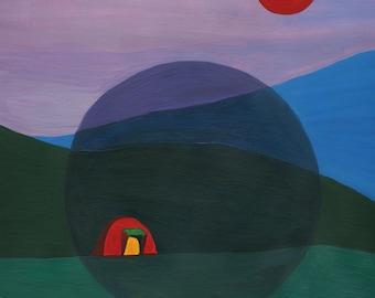 "Camping Scene 8x10"" Print"