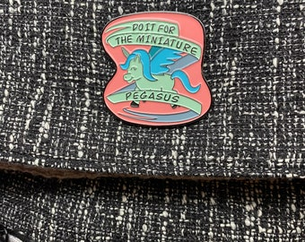 Do It For The Miniature Pegasus Soft Enamel Pin, A Court Of Silver Flames Fanart, ACOSF Pin