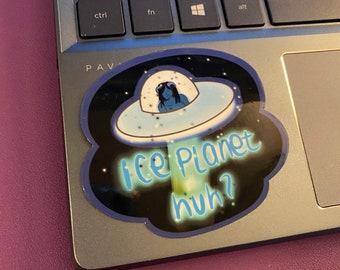 Ice Planet Barbarians Inspired Sticker, Bookish, Blue Aliens Fanart, Water Resistant Die Cut Sticker, IPB