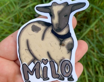 Milo the Goat Sticker, Water Resistant Die Cut Sticker, Shadow and Bone Fanart