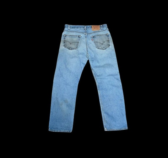 Vintage Levis 505 thrashed 90s great repairs dist… - image 2