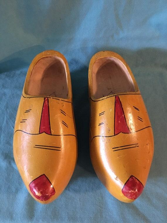 Vintage Wooden Clogs