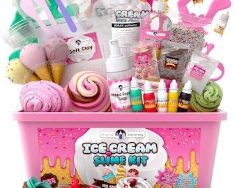 Fluffy Slime Kit | Diy Slime Kit | Clear Slime | Butter Slime | Diy Slime | Gift For Kids | Slime Supplies | Make Ice Cream Slimes