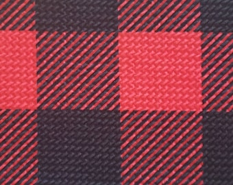 Bullet black and Red Plaid  Fabric