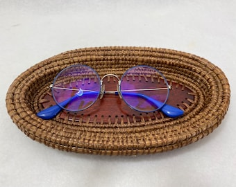 Handcrafted Pine Needle Basket w/ Redheart wood Center