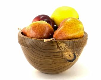 Hand Turned Bowl, Russian Olive Bowl, Fruit Bowl, Salad Bowl