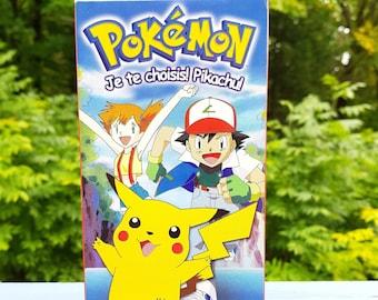 "Vintage 1997 ""POKÉMON Vol 1 Je te choisis! Pikachu!"" French Canada Version-Vhs Episodes Video Cassette Tape Imav-0001 Hi-Fi Stereo"