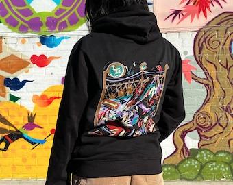 City Coyotes Illustration Hoodie | Black Streetwear Hoodie